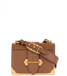 Prada Brown Cahier Small Crossbody