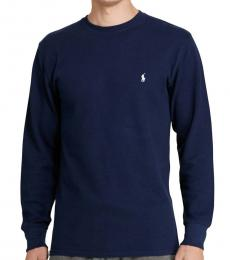 Cruise Navy Crewneck Cotton-Blend T-Shirt