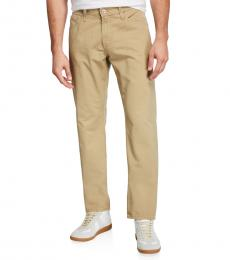 AG Adriano Goldschmied Beige Graduate Tailored-Leg Denim Jeans