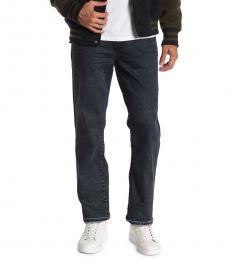 True Religion Navy Blue Ricky Flap Straight Leg Jeans