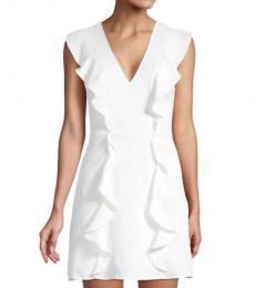 Off White Eve Ruffle Mini Dress
