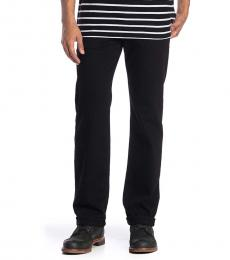 7 For All Mankind Black Austyn Straight Jeans