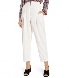 White Hadley Tapered High Waisted Pants