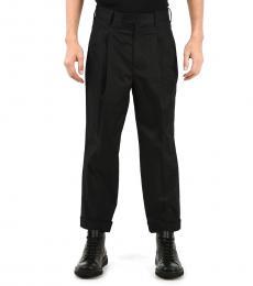 Black Virgin Wool Blend Pants