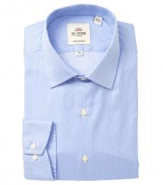 Light Blue Tailored Slim Fit Dress Shirt