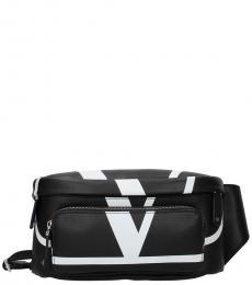 Valentino Garavani Black Logo Waist Bag