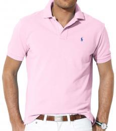 Ralph Lauren Light Pink Classic Fit Mesh Polo
