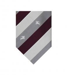 Burberry Brown Neat Stripes Silk Tie