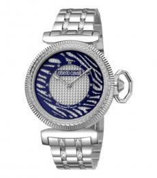 Roberto Cavalli Silver Champagne Classic Watch