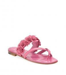 Pink Floral Flats