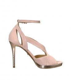 Soft Pink Becky Ankle Strap Heels
