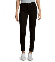 7 For All Mankind Black Five-Pocket Skinny Jeans