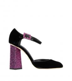 Black Jackie Jewelery Heels