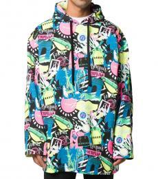 Balenciaga Multi Color Oversize Hoodie Jacket