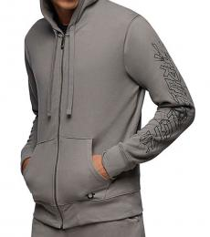 True Religion Charcoal Graphic Zip Hoodie