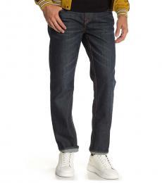 True Religion Navy Blue Rocco No-Flap Skinny Jeans