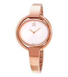 Rose Gold Impetuous Silver Dial Watch