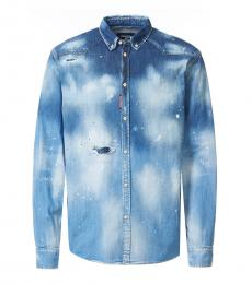 Blue Denim Spray Shirt
