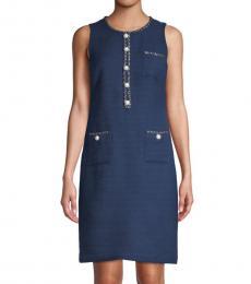 Eclipse Embellished Sleeveless Shift Dress