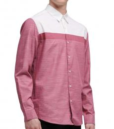 Rose White Colorblock Shirt