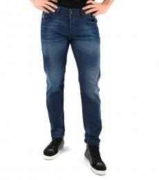 Diesel Dark Blue Stretch Bazer Jeans