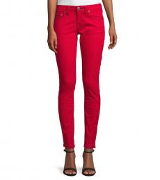 Ruby Red Skinny-Fit Jeans
