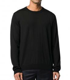 Balenciaga Black Solid Cotton Sweater