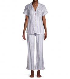 UGG White Rosan Striped Pajama Set
