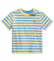 Ralph Lauren Baby Boys Cruise Lime Striped T-Shirt