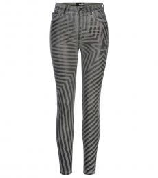 Silver Striped Slim Fit Jeans