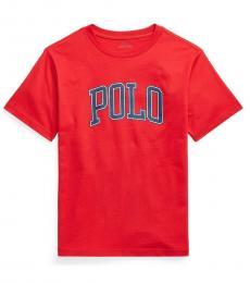 Ralph Lauren Boys Red Logo Jersey T-Shirt