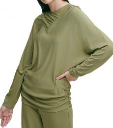 DKNY Cargo Green Luxe Knit Hoodie