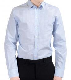 Dolce & Gabbana Blue Striped Long Sleeve Shirt