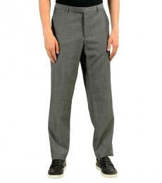 Hugo Boss Grey Dress Solid Pants