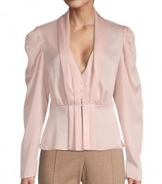 Light Pink Pleated Peplum Top