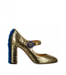 Dolce & Gabbana Gold Glitter Heels