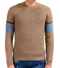 Brown Mohair Wool Crewneck