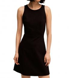 Black Paneled Ponte Dress