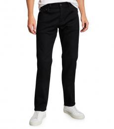 AG Adriano Goldschmied Black Matchbox Slim Straight Pants