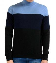 Navy Blue Wool Turtleneck Sweater
