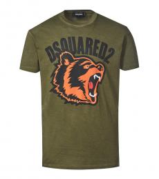 Dsquared2 Olive Graphic Print T-Shirt
