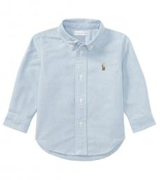 Baby Boys Blue Oxford Shirt