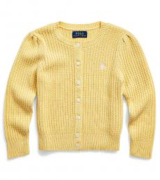 Ralph Lauren Little Girls Butter Cream Heather Cardigan