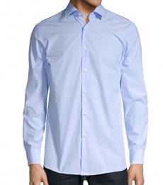 Hugo Boss Blue Mabel Dotted Button Shirt