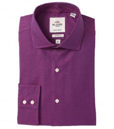 Dark Purple Tailored Slim Fit Dress Shirt