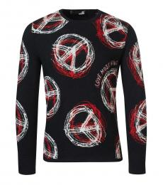Black Peace Logo Sweater