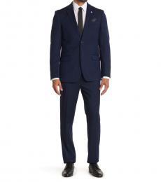 Ben Sherman Navy Blue Nailhead Slim Fit Suit