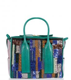 Dsquared2 Multicolor Embroidered Large Satchel