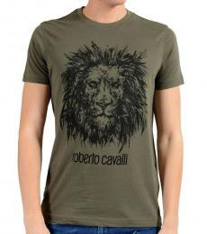 Green Graphic Lion Crewneck T-Shirt
