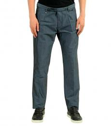Hugo Boss Grey Striped Casual Pants